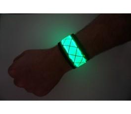 Green LED Snap Band