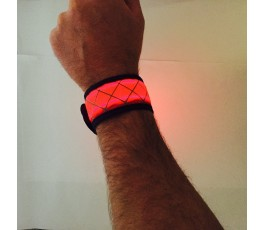 Red LED Snap Band