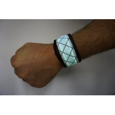 White LED Snap Band