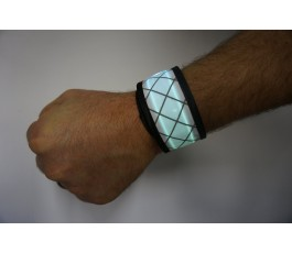 White LED Snap Band
