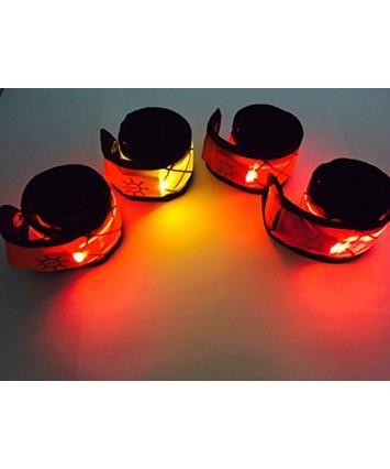 Orange LED Snap Band