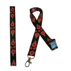 Poppy Lanyard with Safety breakaway