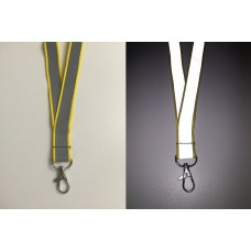 Neon Yellow Reflective Lanyard