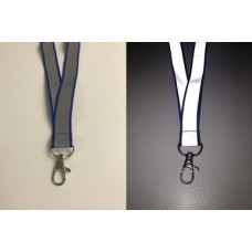 Blue Refelective Lanyard