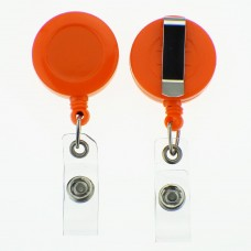 100 x Solid Orange Belt Clips