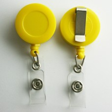 100 x Solid Yellow Belt Clips
