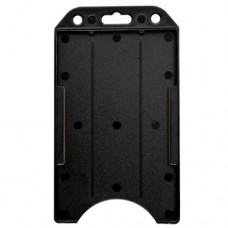 Black Vertical 2 sided Card Holder