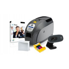 IN-A-BOX, ID BADGE PRINTING, LOW VOLUME, ZEBRA ZXP SERIES 3, LOGITECH WEBCAM, JOLLY ID FLOW SOFTARE