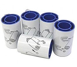 DATACARD BADGE CARD PRINTER SPARE CLEANING ADHESSIVE ROLLERS - 5 PACK