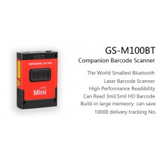 General Scan GS M100BT-HP40QI 1D Laser Mini Barcode Scanner