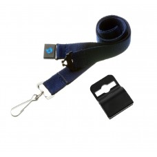 Navy Blue Lanyard 20mm with safety breakaway