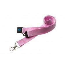 Pastel Pink 20mm lanyard with safety breakaway