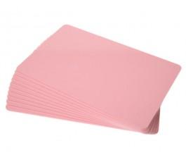 50 x Pink pvc card