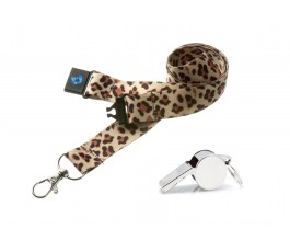 Cheetah Hi Quality 20mm Lanyard with Metal Whistle
