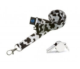 Cow Hi Quality 20mm Lanyard with Metal Whistle
