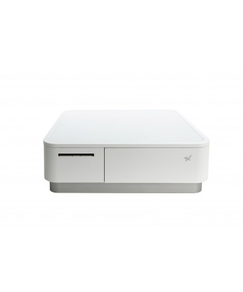 mPOP, White, Integrated Printer & Cash Drawer Flat Bill, Universal Tablet Stand, USB Cable, Int PS. Part Number 39650810