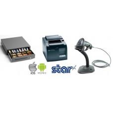 Star Ethernet Printer & Cash Drawer & Barcode Scanner Bundle