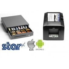 Star Micronics TSP654IIBI2-24 - Bluetooth Receipt Printer & Star Cash Drawer