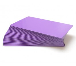 50 x Purple pvc card