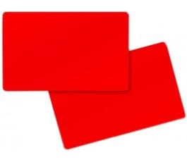 50 x Red Pvc Card