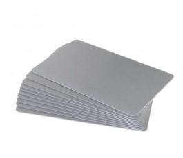 50 x Silver pvc card