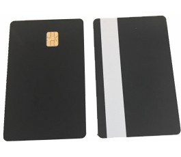 10 x Black Sle4442 Cards With Silver Magstripe